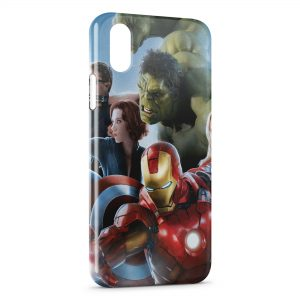 Coque iPhone XR Marvel Iron Man Captain America Hulk