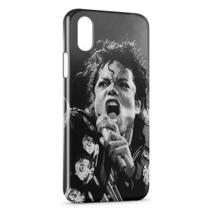 Coque iPhone XR Michael Jackson Black & White