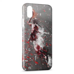 Coque iPhone XR Michael Jordan Chicago Bulls Art 4
