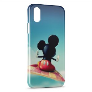 Coque iPhone XR Mickey tapis volant