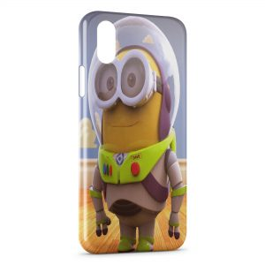 Coque iPhone XR Minion Buzz l'éclair