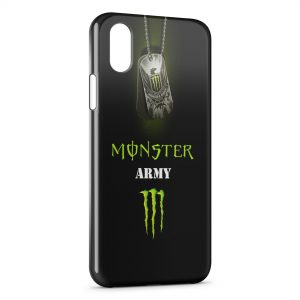 Coque iPhone XR Monster Army Energy Logo Black