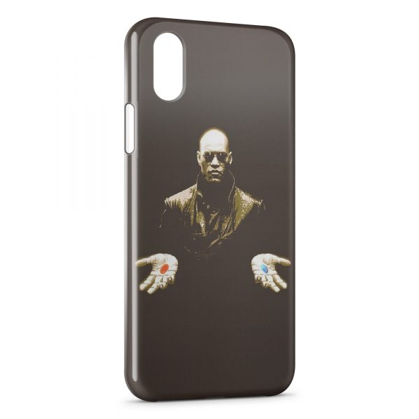 Coque iPhone XR Morpheus Matrix Pilule