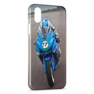 Coque iPhone XR Moto Sport