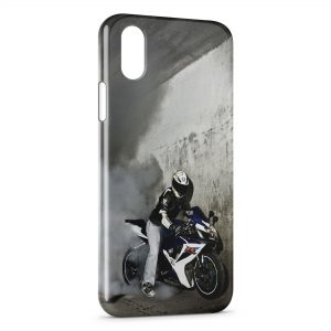 Coque iPhone XR Moto Sport Burn
