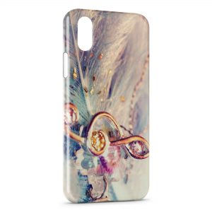 Coque iPhone XR Music Clef