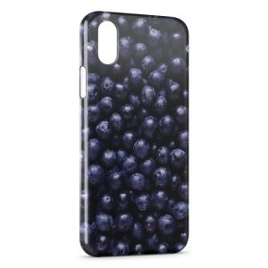 Coque iPhone XR Myrtilles