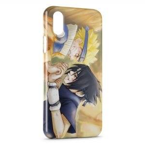 Coque iPhone XR Naruto Sasuke