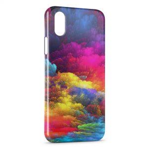 Coque iPhone XR Nuages de peinture
