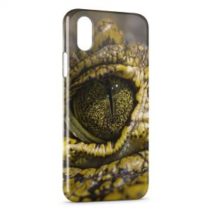 Coque iPhone XR Oeil Croco