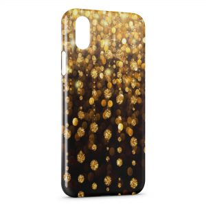 Coque iPhone XR Or & Diamants