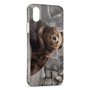 Coque iPhone XR Ours Brun
