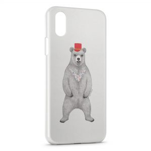 Coque iPhone XR Ours Style Design