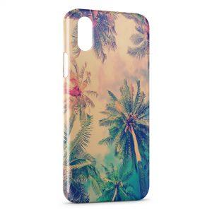 Coque iPhone XR Palmier Vintage