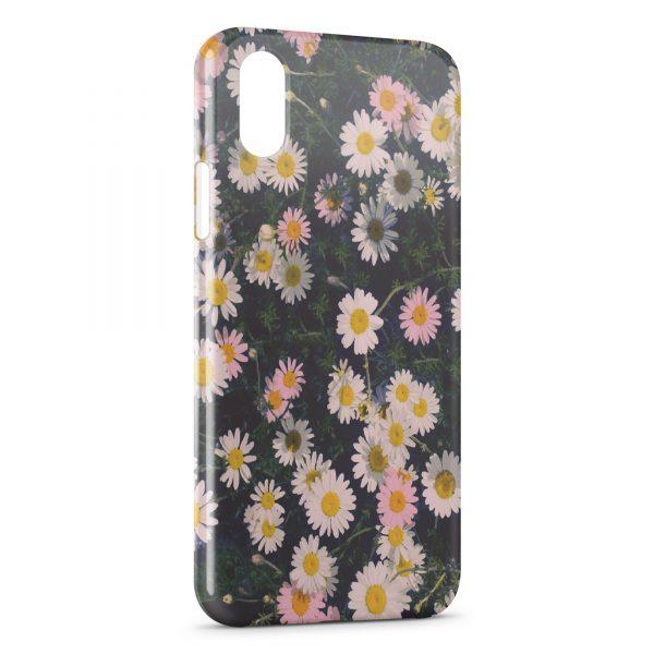 Coque iPhone XR Paquerettes Fleur Vintage