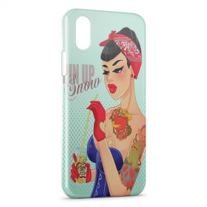 Coque iPhone XR Pin up Blanche Neige