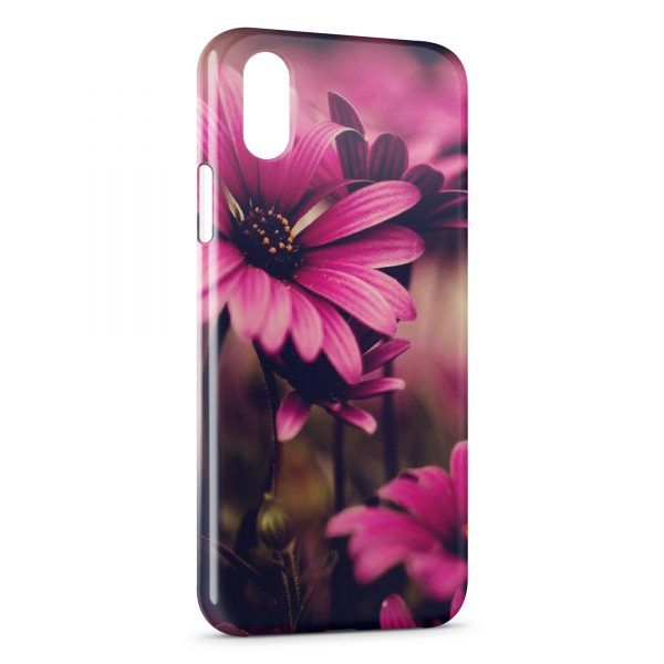 Coque iPhone XR Pink Flowers Art