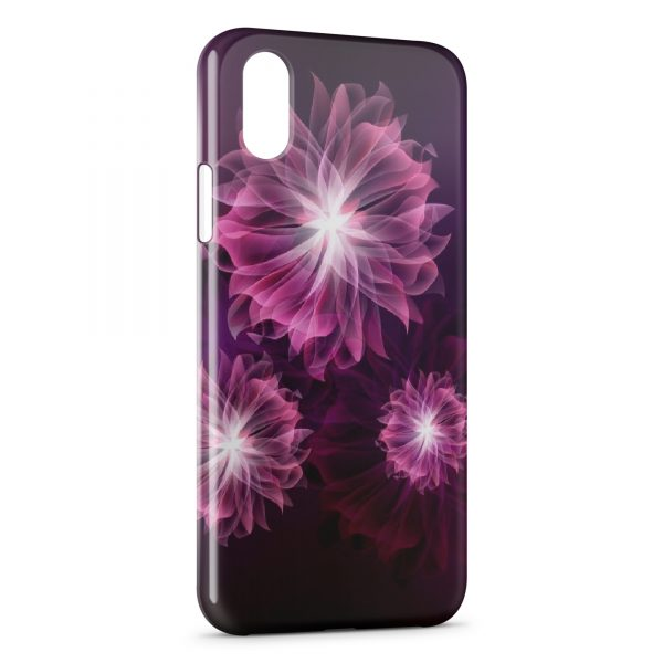 Coque iPhone XR Pink Flowers Design