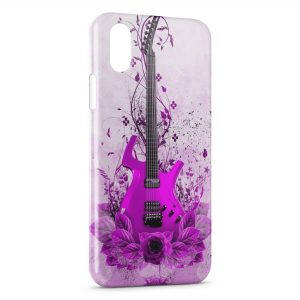 Coque iPhone XR Pink Guitare