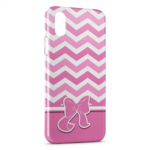 Coque iPhone XR Pink Noeud Cute