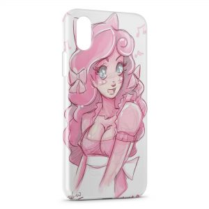 Coque iPhone XR Pink Princess Rondoudou