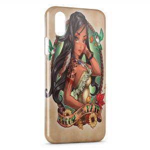 Coque iPhone XR Pocahontas Punk