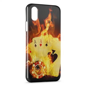 Coque iPhone XR Poker Fire