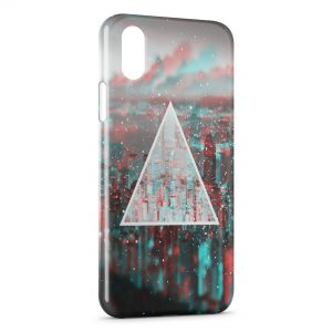 Coque iPhone XR Pyramide City