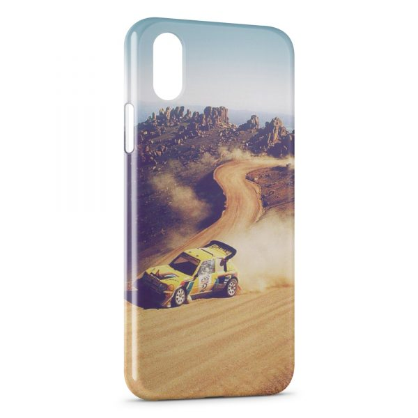 Coque iPhone XR Rally Racing Peugeot 205 600x600