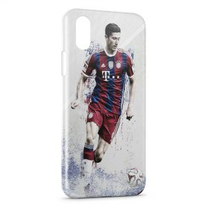 Coque iPhone XR Robert Lewandowski FC Bayern de Munich 2