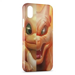 Coque iPhone XR Salameche Dracaufeu Pokemon Design