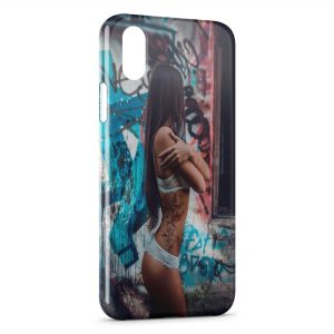 Coque iPhone XR Sexy Girl Graphitis