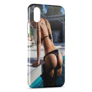 Coque iPhone XR Sexy Girl Piscine