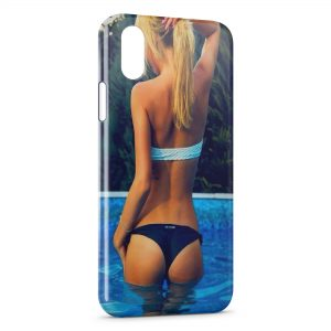 Coque iPhone XR Sexy Girl Piscine