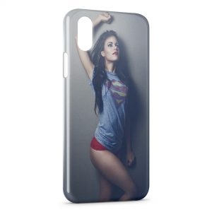 Coque iPhone XR Sexy Girl Superman 5