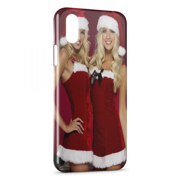 Coque iPhone XR Sexy Noel Girl