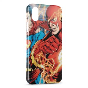 Coque iPhone XR Superman & Flash