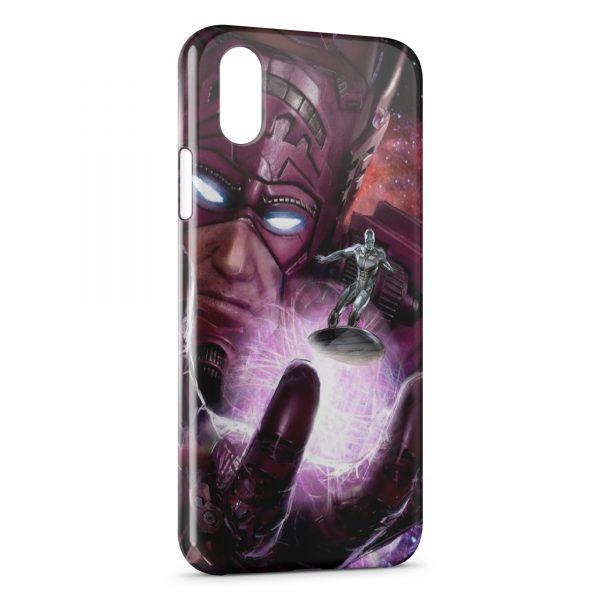Coque iPhone XR Surfeur d'argent