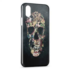 Coque iPhone XR Tête de mort vintage