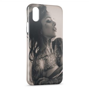 Coque iPhone XR Tattoo sexy girl