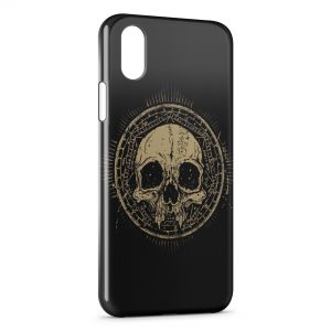 Coque iPhone XR Tete de Mort Black