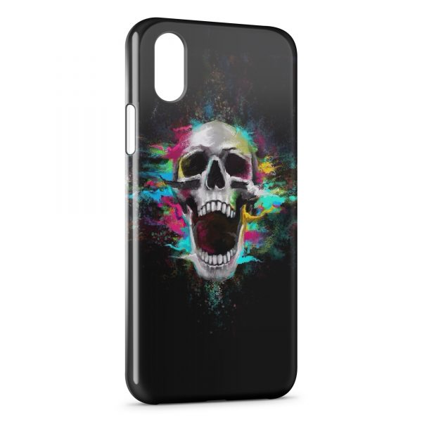 coque iphone xr tete de mort