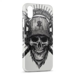 Coque iPhone XR Tete de mort Terror