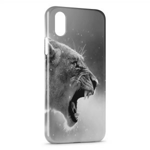 Coque iPhone XR Tiger Black & White