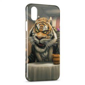 Coque iPhone XR Tiger Cartoon