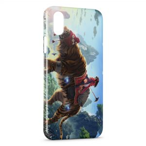 Coque iPhone XR Tiger & Manga Girl