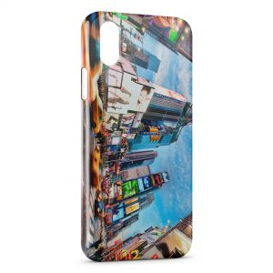 Coque iPhone XR Times Square New York
