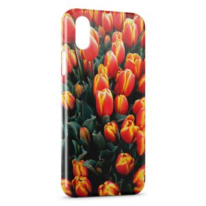 Coque iPhone XR Tulipes