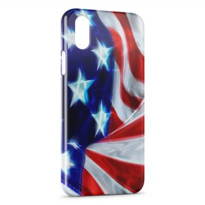 Coque iPhone XR USA Drapeau