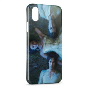 Coque iPhone XR Vampire Diaries Nina Dobrev Paul Wesley Ian Somerhalder 2